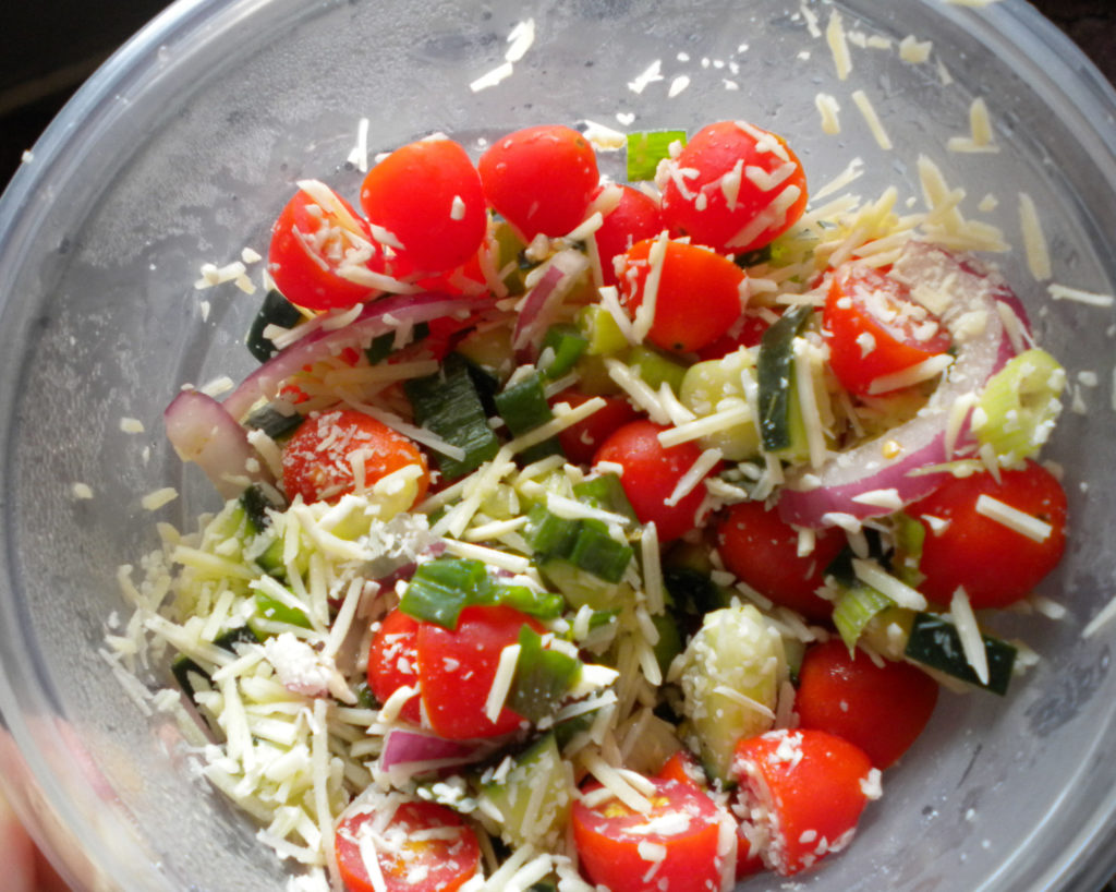 Brown Bag Challenge – Grape Tomato Parmesan Salad