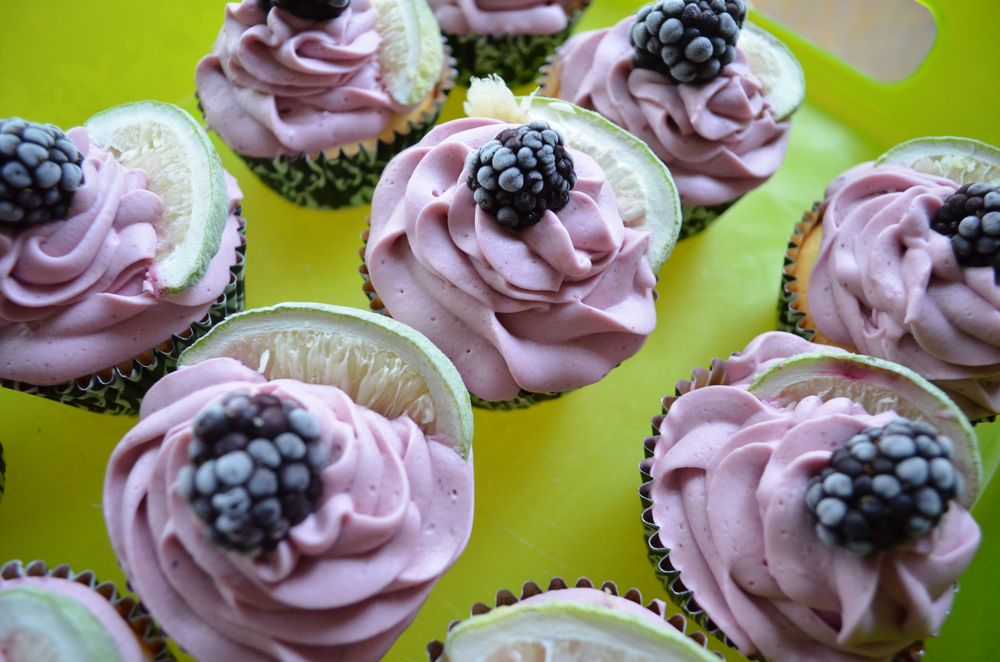 Blackberry Lime Cupcakes