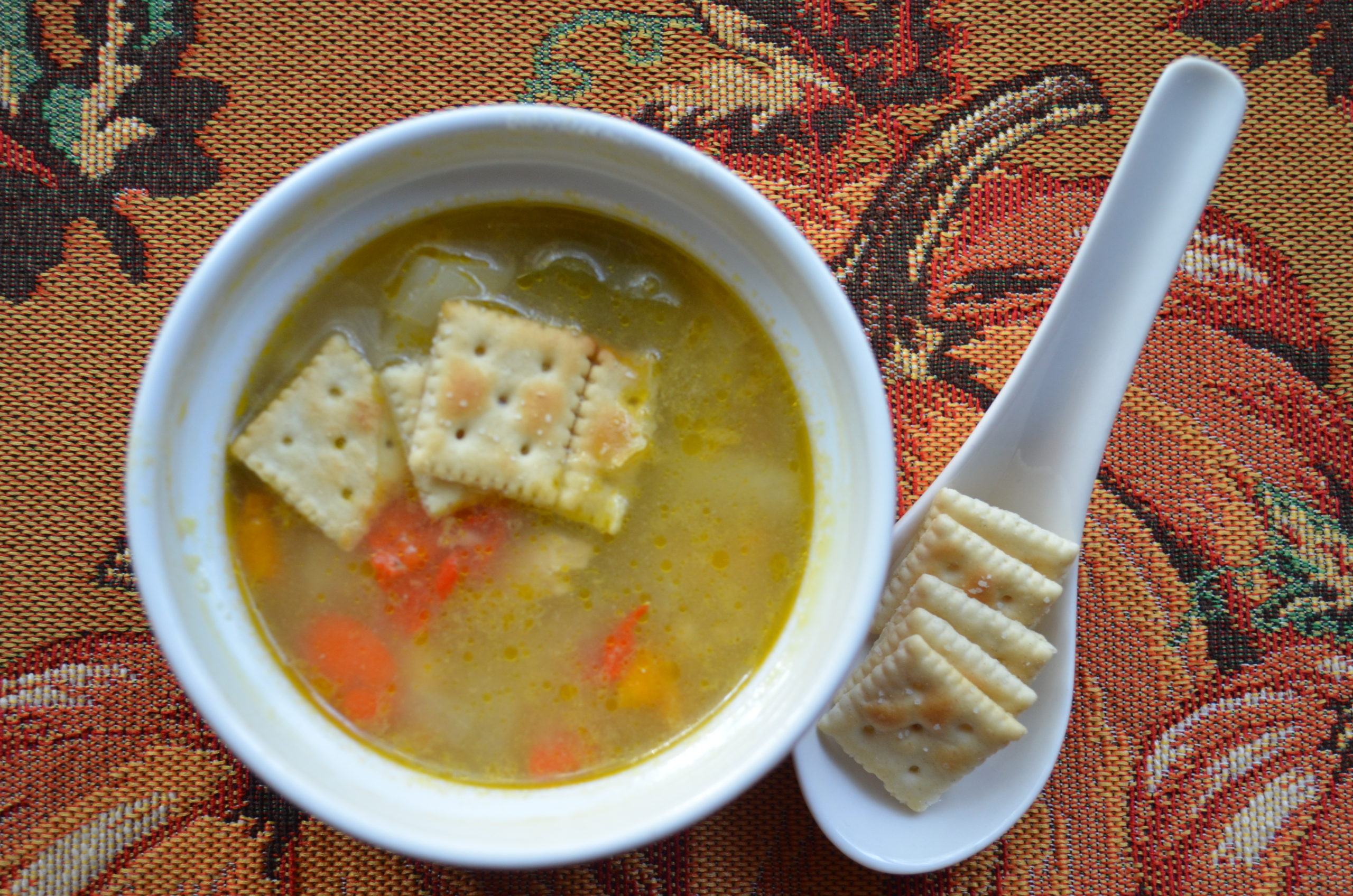 Hearty Dinner: Chicken, Pepper & Potato Brown Rice Soup