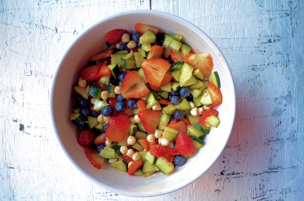 Red, White, & Blue Salad with Red Apple Balsamic