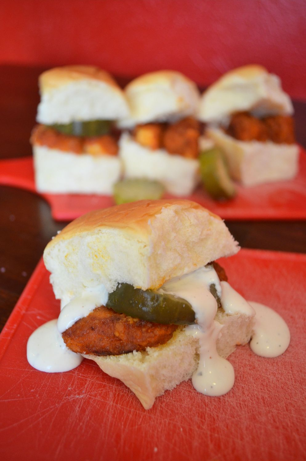 Buffalo Chicken Sliders & Tyson's Project A+