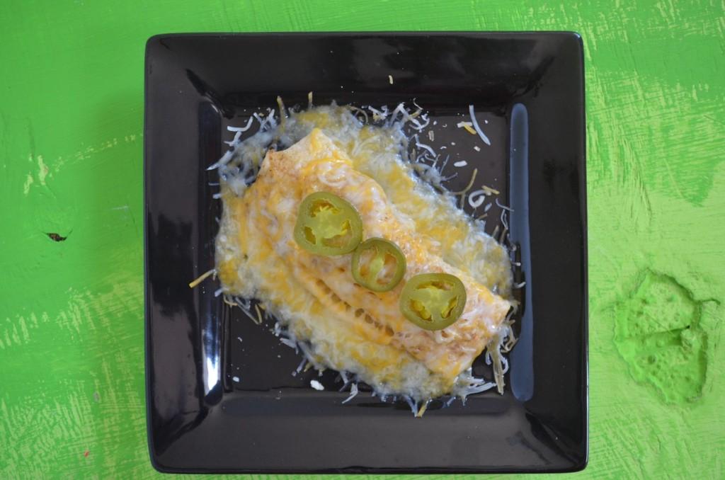 Roasted Chicken Verde Enchiladas #kraftrecipemakers