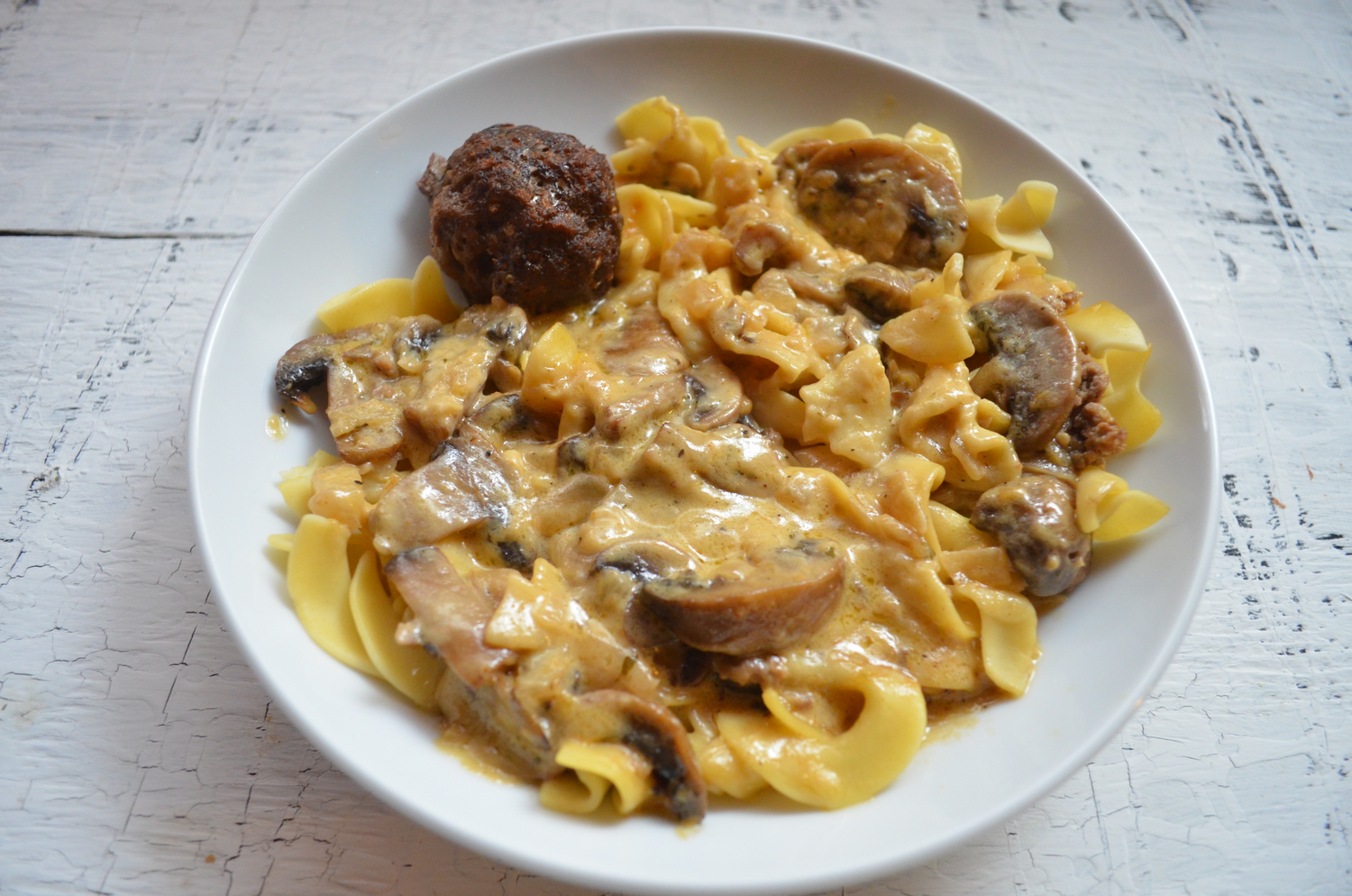 Meatball Stroganoff with Land O' Lakes #SauteExpress