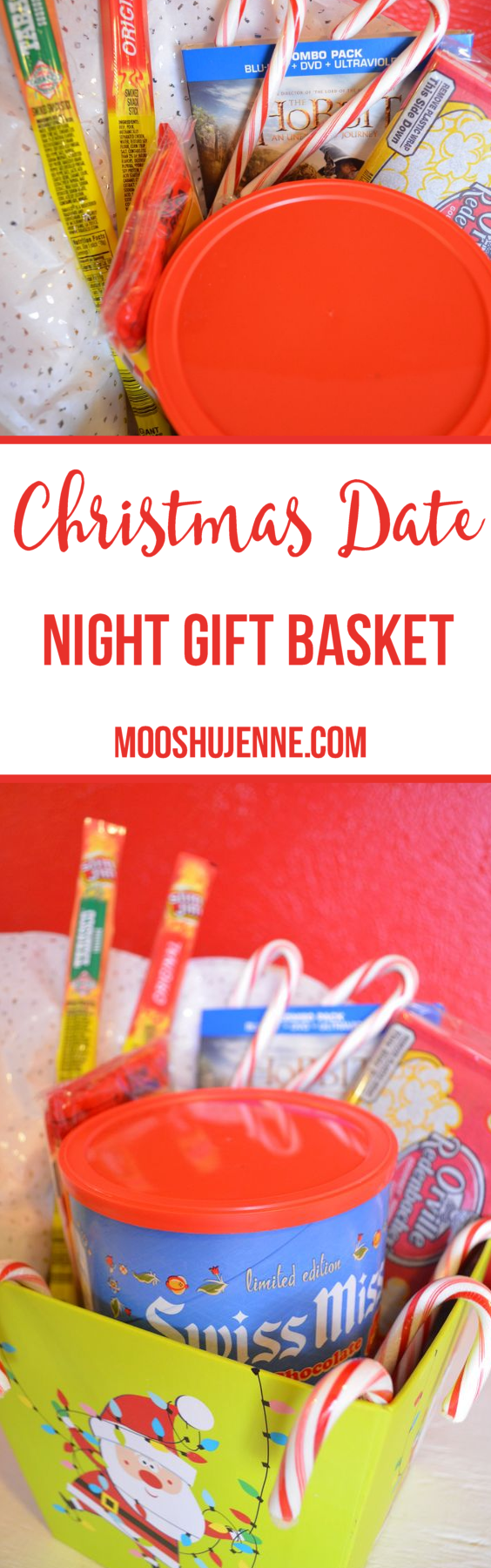 What I love about Christmas is buying gifts for friends or making a pretty basket fit for a movie guru. Often if I don't know much about a person I will do the Christmas date night hot chocolate basket.
