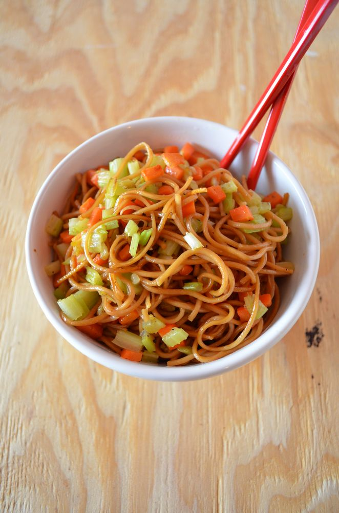 Vegetable Lo Mein via Mooshu Jenne