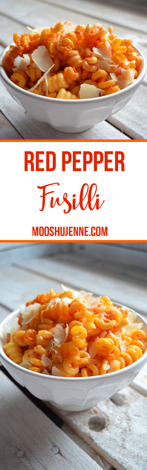 Leftovers are a huge portion of lunches in our home. It's a way not to create food waste and also have a healthy lunch. This Red Pepper Fusilli is perfect for that. The sauce really taste so much better the next day because it sticks to the pasta.