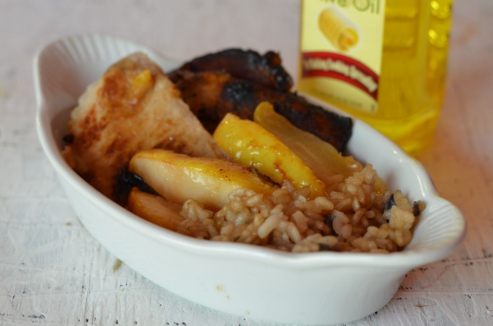 Moscato Buttered Pear Pork with Risotto | Mooshu Jenne #shop #cbias
