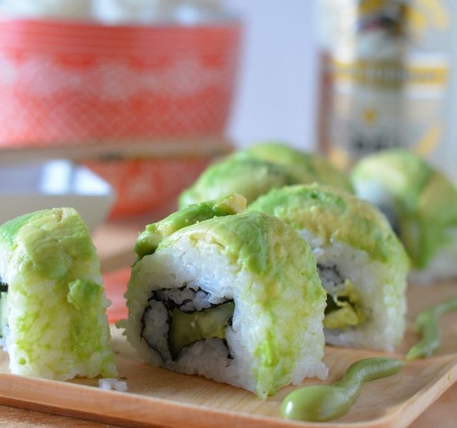Spicy Vegan Dragon Roll
