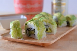 Spicy Vegan Dragon Roll #MC #Sponsored