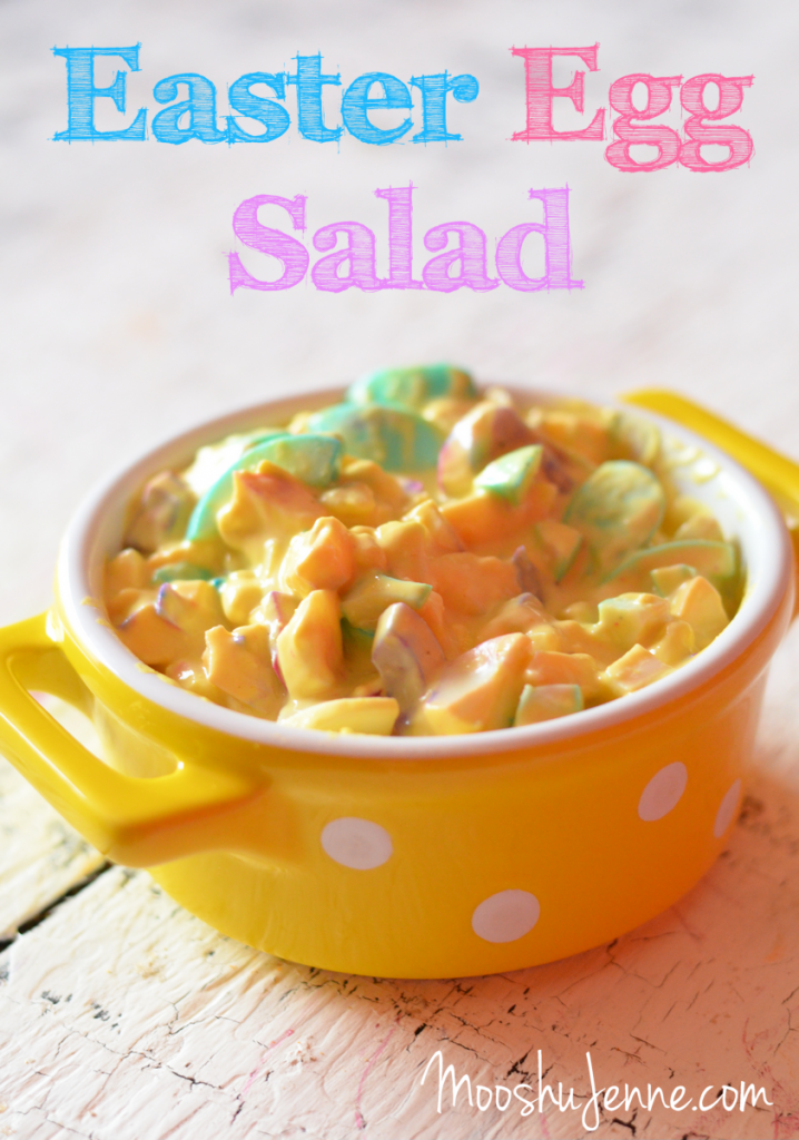 Easter Egg Salad | MooshuJenne.com #Foodelicious #Easter