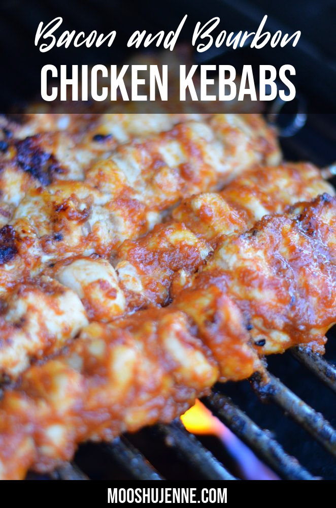 Bacon and Bourbon Chicken Kebabs Pinterest Image
