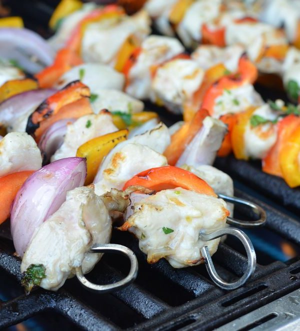 Cilantro Lime Chicken Kebabs
