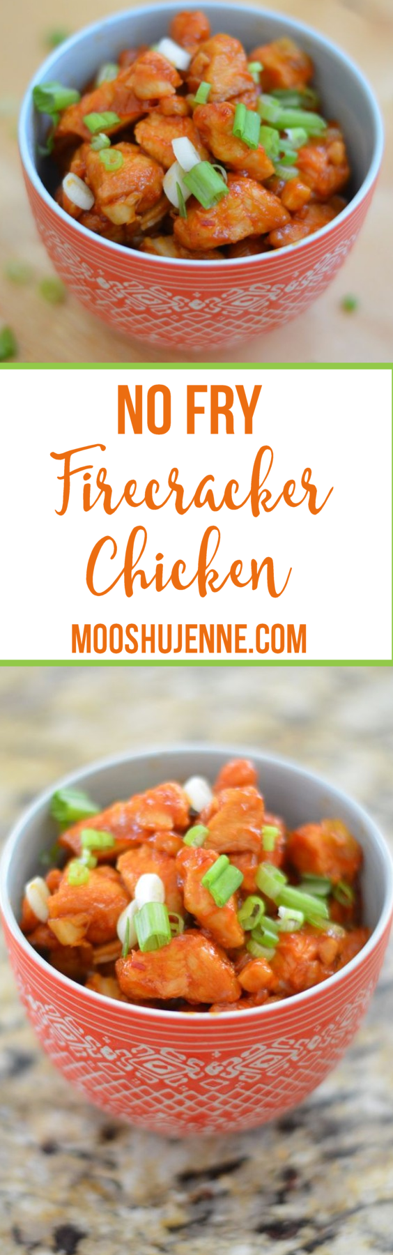 No Fry Firecracker Chicken comes with a simple sauce made from ingredients you should already have on hand in your fridge door.