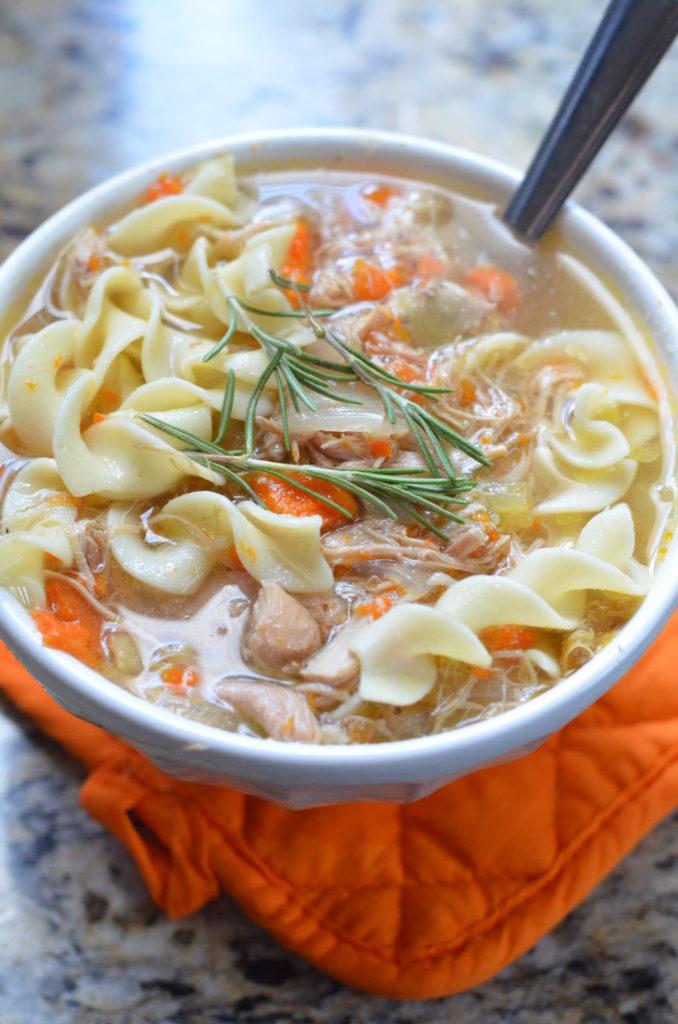 Slow Cooker Chicken Noodle Soup - Mooshu Jenne #chicken #soup