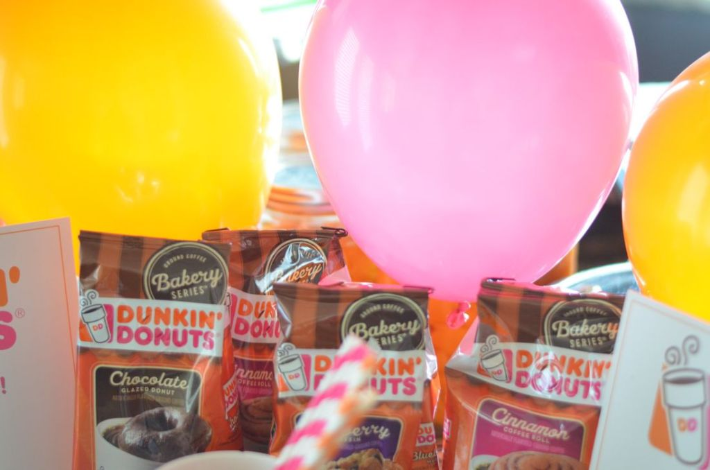 Dunkin' Donuts Party 	#DunkinAtHome #sponsored