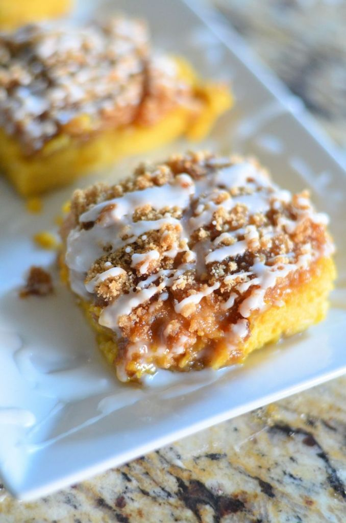 Pumpkin Pie Bars by Mooshu Jenne - Made with fresh pumpkin  with a sweet streusel topping.
