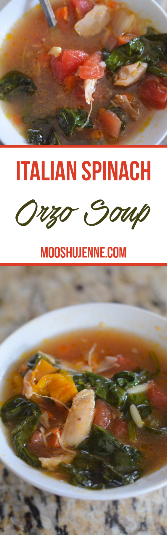 Made from a bone broth with chicken, vegetables, and spices.