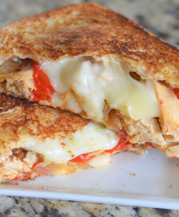 Havarti Chicken Fajita Grilled Cheese Sandwich