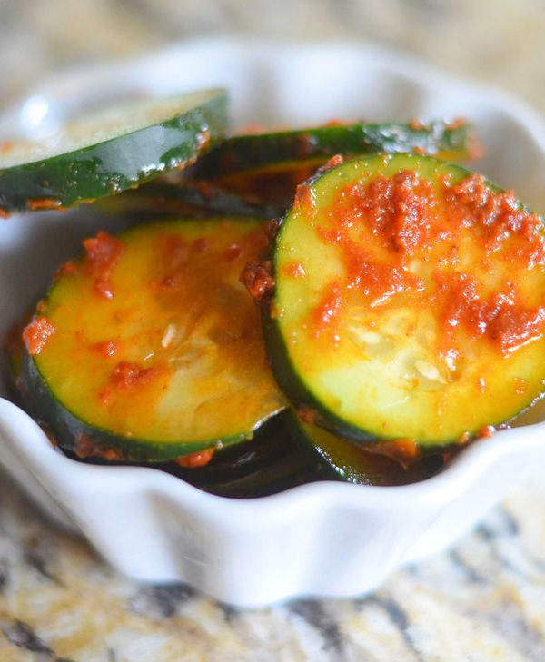 Sundried Tomato Basil Cucumber Salad