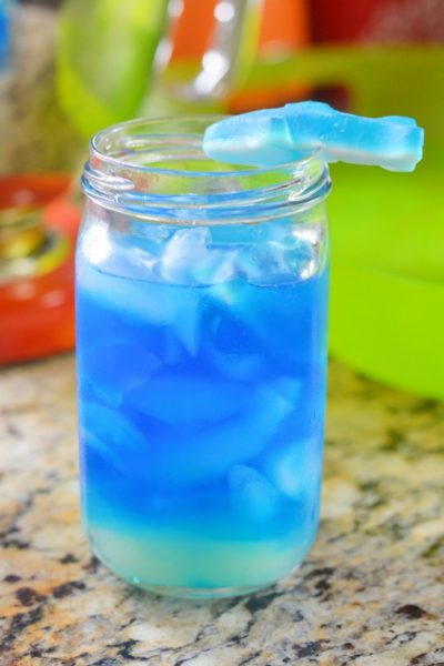 Blue Shark Attack Cocktail #SharkWeek