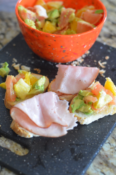 Black Forest Ham with Avocado Citrus Salad #HillshireNaturals #WeaveMade #ad