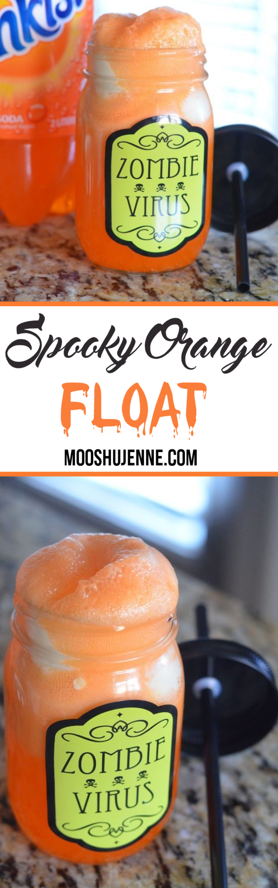 Spooky Orange Float. Can you imagine all the ways to decorate or fill said pumpkin? I know I can! I just love Halloween though. This is going to be so addicting for me.
