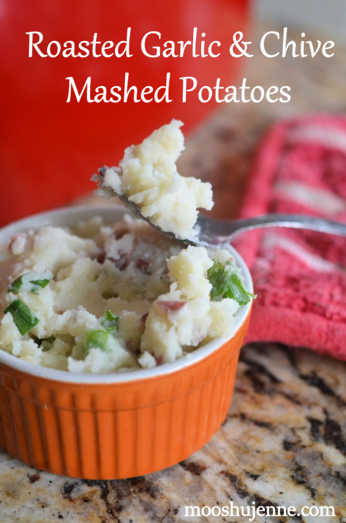 Roasted Garlic and Chive Mashed Potatoes by Mooshu Jenne