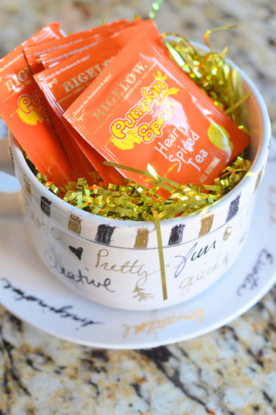 DIY Encouragement Cup Gift Bigelow #MeAndMyTea #CollectiveBias #Ad