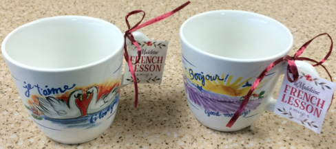 French lesson mugs