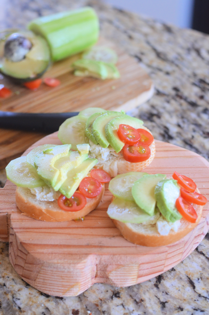 Mini Open Faced Sandwiches #BoursinParty #LoveBoursin #Walmart
