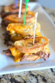 Mini Grilled Cheese Pot Roast Sandwiches