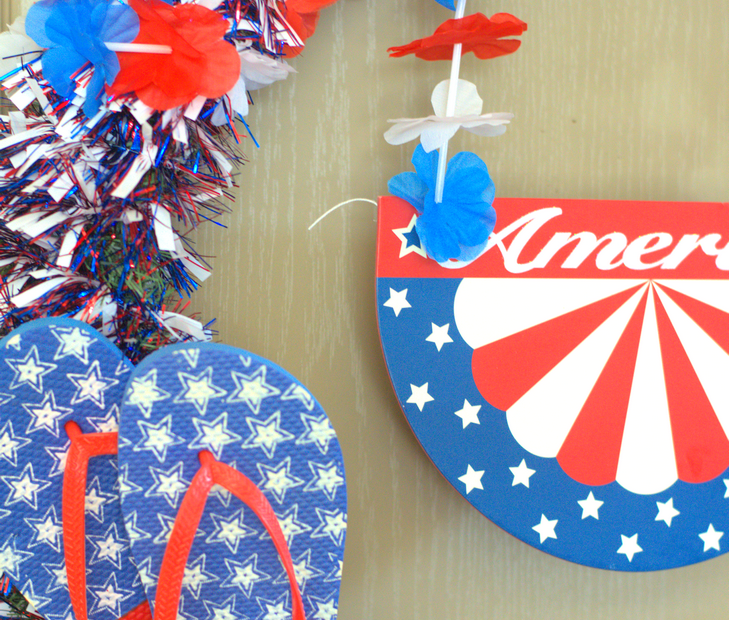 Easy 4th of July Door Wreath