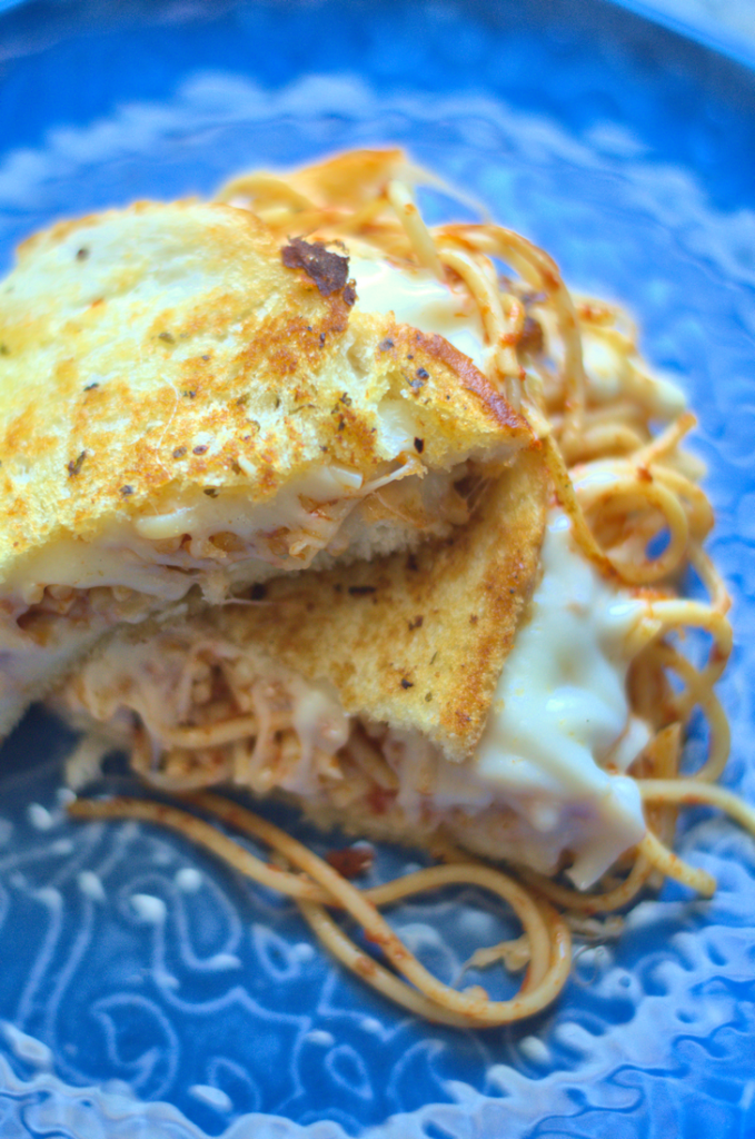 Garlic Bread Spaghetti Grilled Cheese Mooshu Jenne