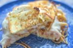 Garlic Bread Spaghetti Grilled Cheese