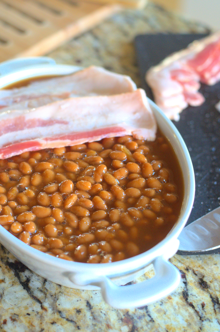 Bacon Weave Baked Beans