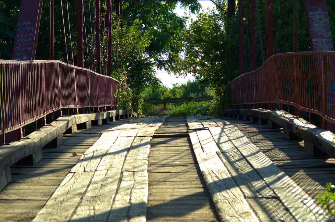 Old Alton Bridge - Goatman's Bridge Denton, Texas
