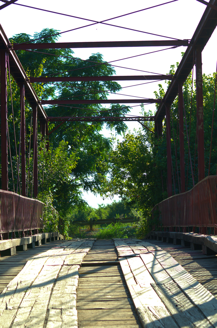 Old Alton Bridge - Goatman's Bridge Denton, Texas