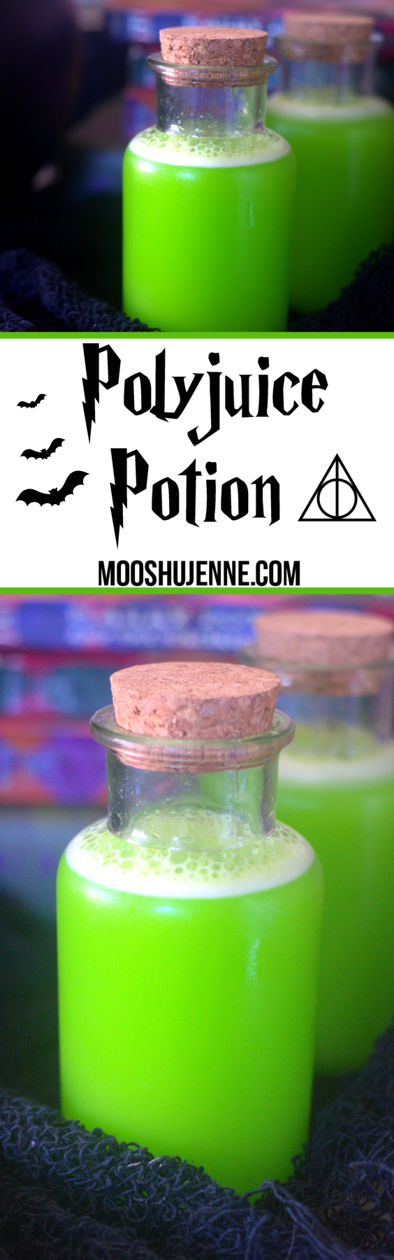 Polyjuice Potion drink from the Harry Potter series. So in light of the movie approach I thought I would bring you, my readers, a Harry Potter favorite that good ole' Poly Juice Potion.