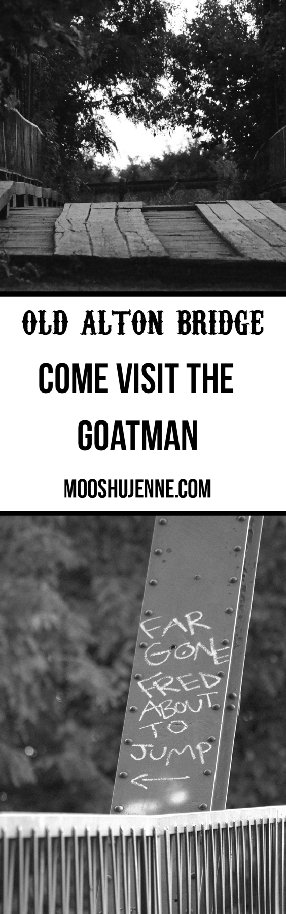 Goatman's Bridge also known as Old Alton Bridge located in Denton, Texas is one of those places that when you come to town and ask about hauntings that the first place everyone will point you to. The bridge comes with personal stories, gossip, and myths. It's just one of those places that has a story of it's own.