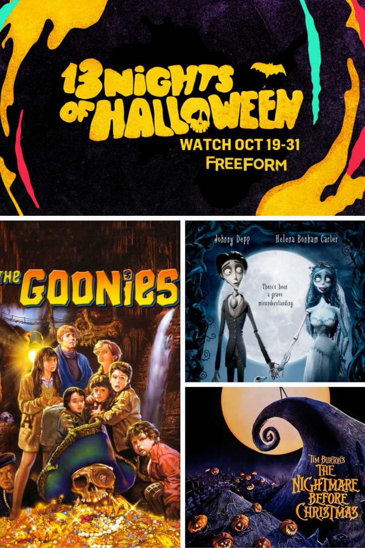 Freeform (Formerly ABC Family) is having a 13 nights of Halloween programming starting October 19th. All 13 evenings are packed FULL of family-friendly Halloween movies and the weekends will be spooky with movies running all day! Get in on the Halloween entertainment!