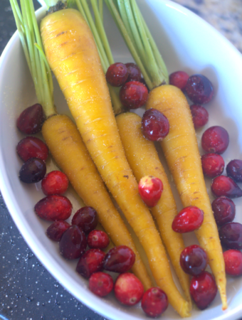 Sugared Heirloom Carrots and Cranberries