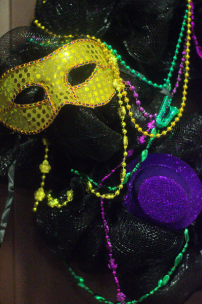 Mardi Gras Wreath For Fat Tuesday