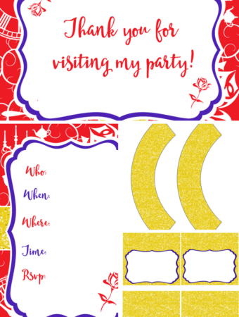 Beauty and The Beast Printable Party