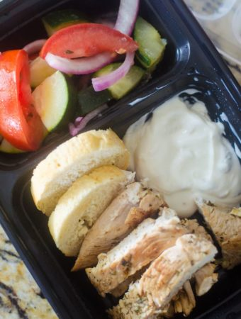 Greek Chicken Cucumber Salad Meal Prep