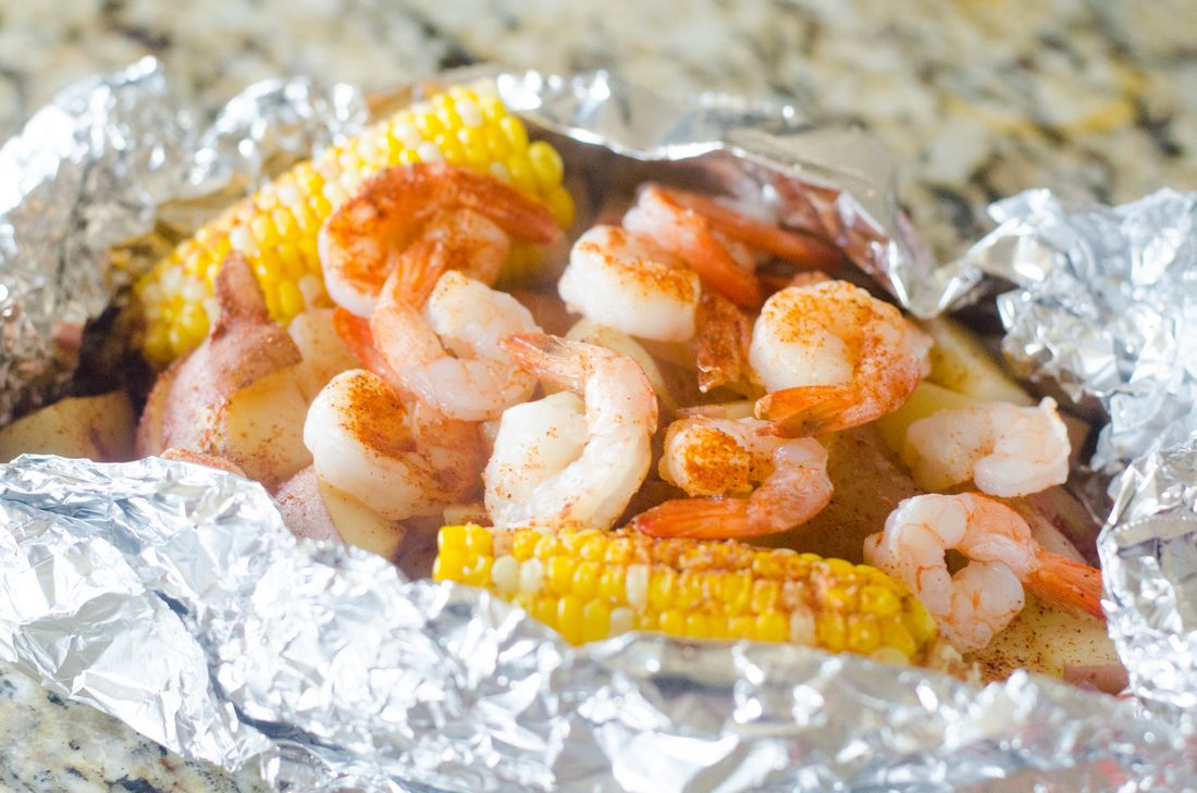 Cajun Shrimp Foil Pack