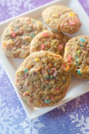 Frozen Fruity Pebble Cookies