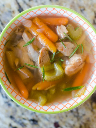 Instant Pot Rosemary Turkey Soup