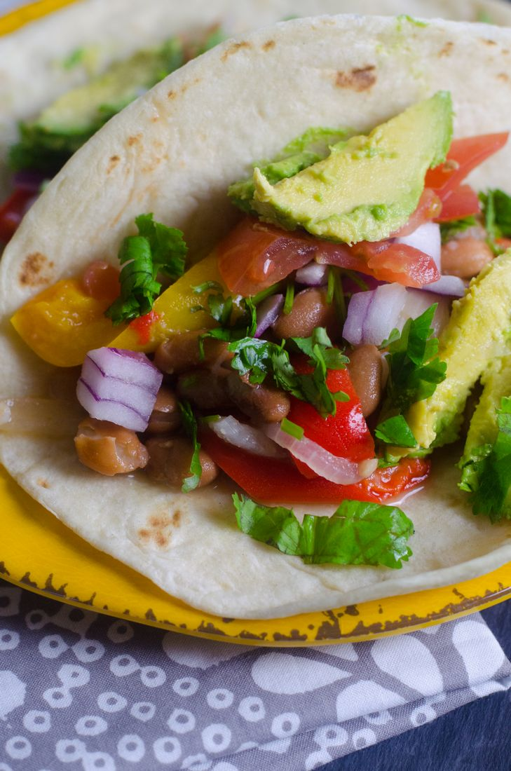 Instant Pot Vegan Bean Tacos