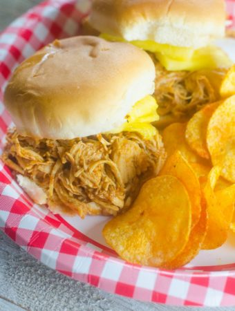 Instant Pot Barbecue Chicken Pineapple Sliders