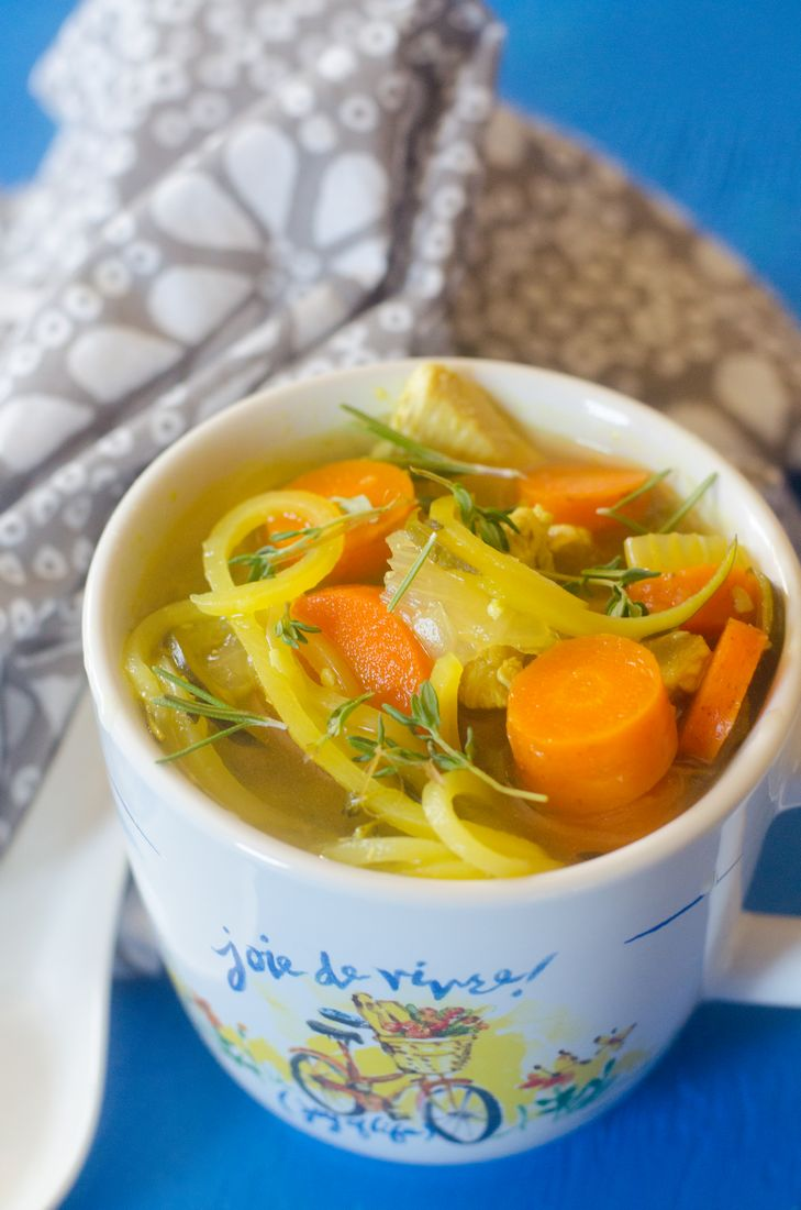 Instant Pot Rosemary Chicken Zoodle Soup